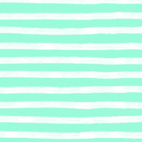 White Stripes on biscay green