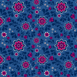 Seventies Jewel Tone Floral