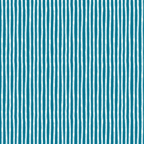 White Stripes on mosaic blue