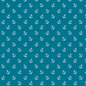 Anchors on mosaic blue