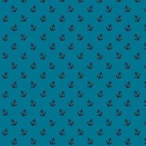 Anchor on mosaic blue