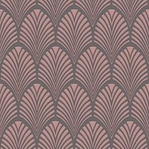 Art Deco Fans blush-grey