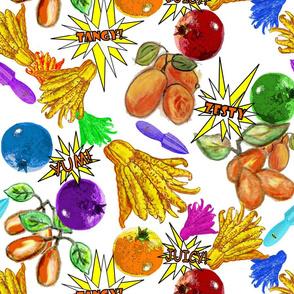 Kumquats, Buddha's Hands & Pomegranates