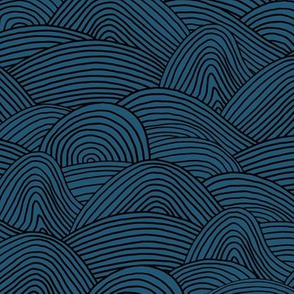 Ocean waves and surf vibes abstract salty water minimal Scandinavian style stripes navy blue winter