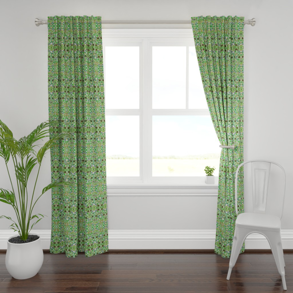 Plymouth Curtain Panel featuring peacock 9a by colortherapeutics