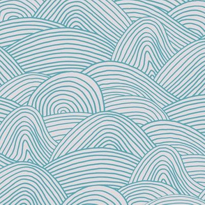 Ocean waves and surf vibes abstract salty water minimal Scandinavian style stripes blue beige spring summer
