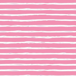 Raw horizontal Inky strokes minimal Scandinavian style trend abstract print pink white