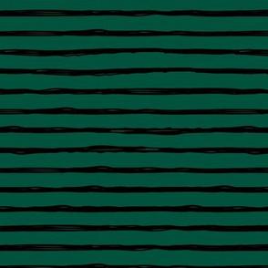 Raw horizontal Inky strokes minimal Scandinavian style trend abstract print emerald green black