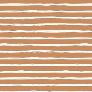 Raw horizontal Inky strokes minimal Scandinavian style trend abstract print soft cinnamon brown neutral