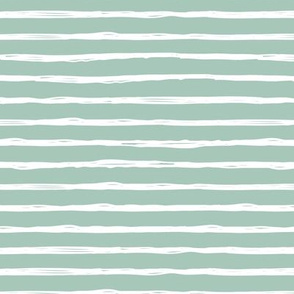Raw horizontal Inky strokes minimal Scandinavian style trend abstract print soft mint green