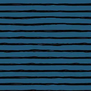 Raw horizontal Inky strokes minimal Scandinavian style trend abstract print navy blue winter