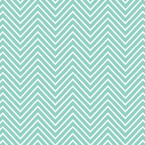 precious boy - chevron teal and white