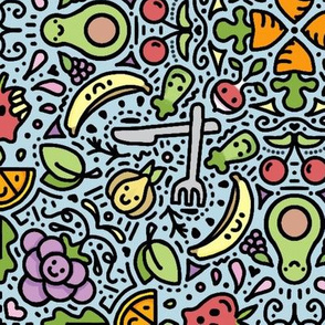 fruits and veggies color