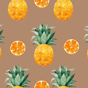 Pineapple and oranges