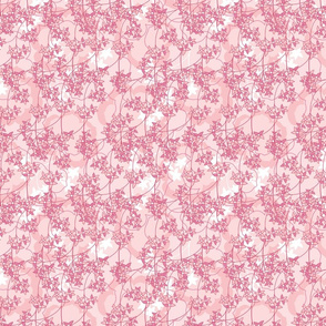 Chintz Floral Scatter Pink