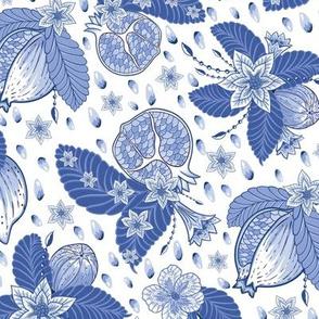 Pomegranate Chintz China Blue