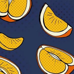 Pop Art Citrus Yellow, Orange & Blue