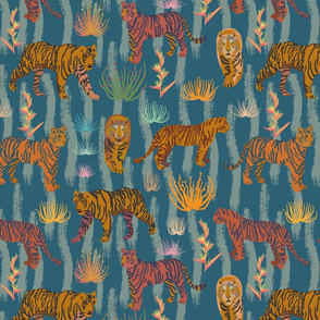 Tiger and Heliconia