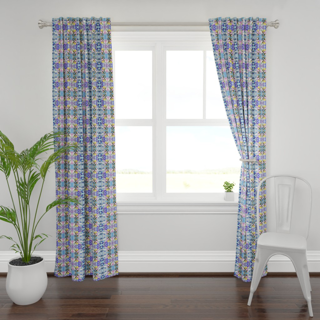 Plymouth Curtain Panel featuring peacockQ 1d by colortherapeutics