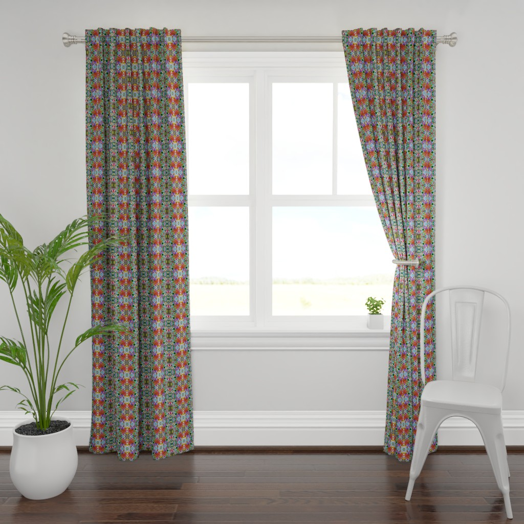 Plymouth Curtain Panel featuring Peacocks8a by colortherapeutics