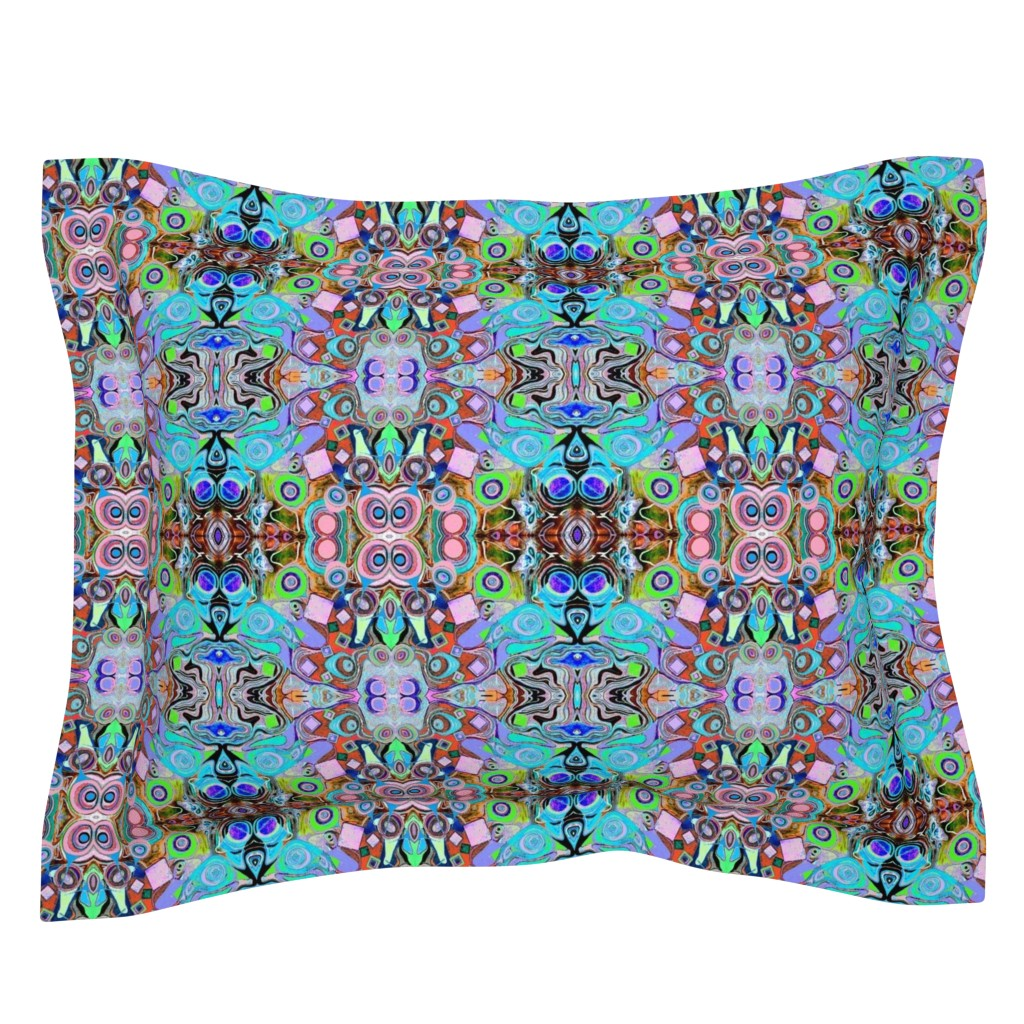 Sebright Pillow Sham featuring Peacocks13 by colortherapeutics