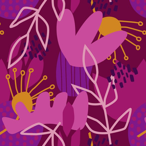 Abstract Purple Floral