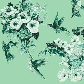Kelly Green & Spring Green Humming Bird