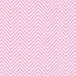 sweet girl - chevron pink and white