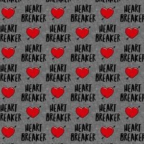 """(3/4"""" scale) heart breaker - heart & arrow valentines - grey - LAD19BS"""
