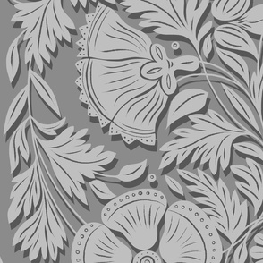Spoonflower Power Silver