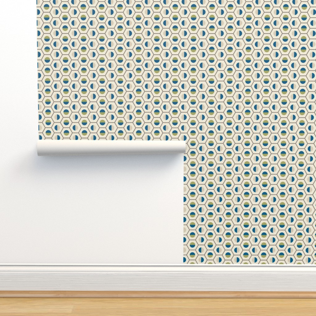 Isobar Durable Wallpaper featuring geo-circle_multi-color by ejmart