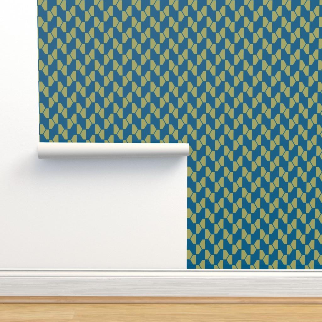 Isobar Durable Wallpaper featuring geo-ball green-blue by ejmart