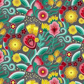 Jewel Tone Floral