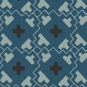 Brad's Grid - Blue - Large