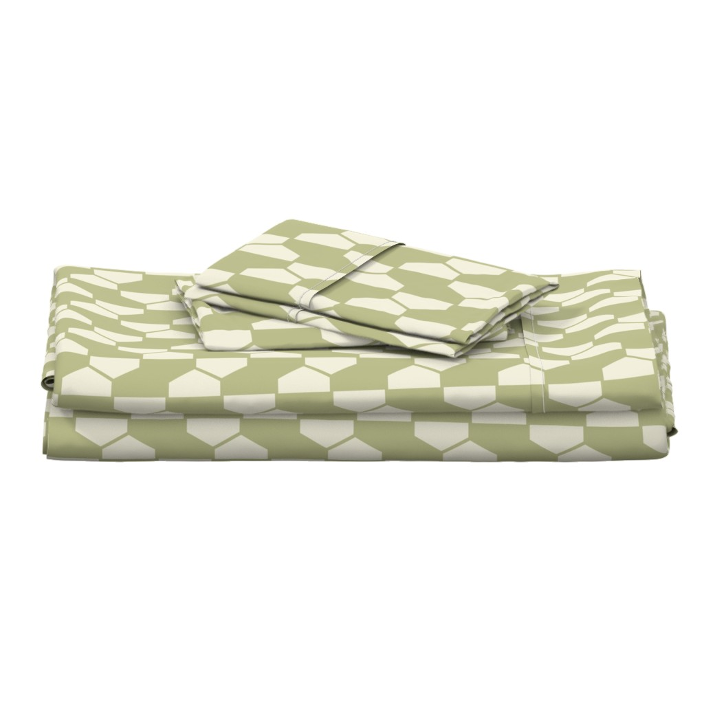 Langshan Full Bed Set featuring geo-ball_green by ejmart