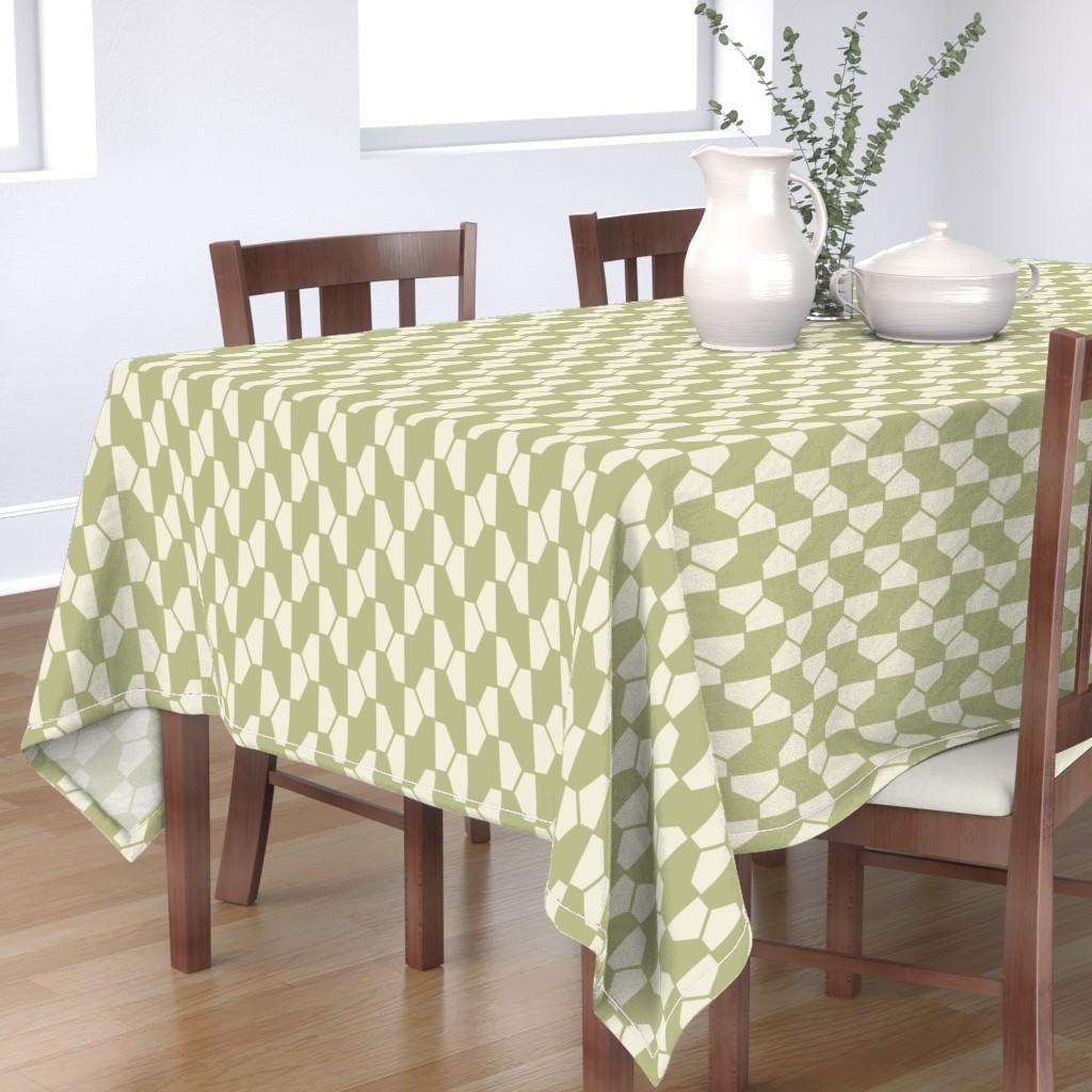 Bantam Rectangular Tablecloth featuring geo-ball_green by ejmart