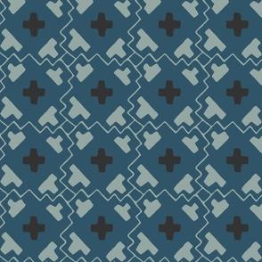 Brad's Grid - Small - Blue, K80