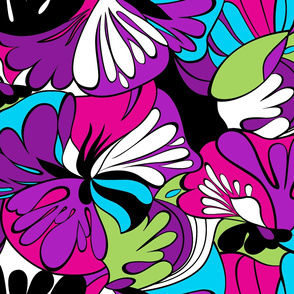 Lava-Lamp Retro Psychedelic Floral