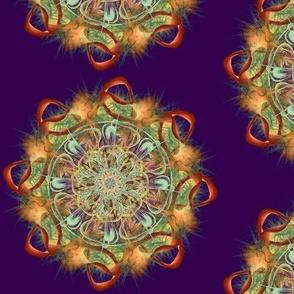 "6"" ALOE MANDALA FIRE AUTUMN GARLAND purple psmge"