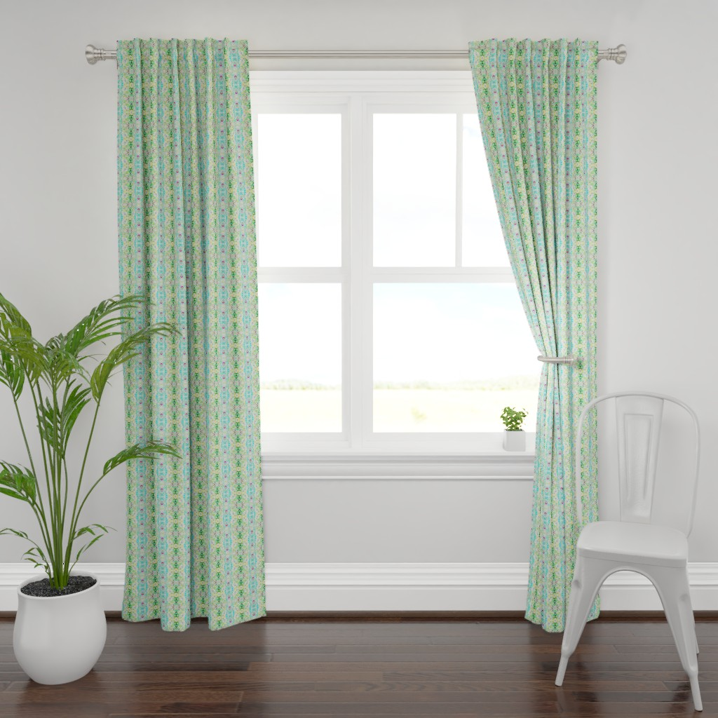 Plymouth Curtain Panel featuring Peacocks14a by colortherapeutics