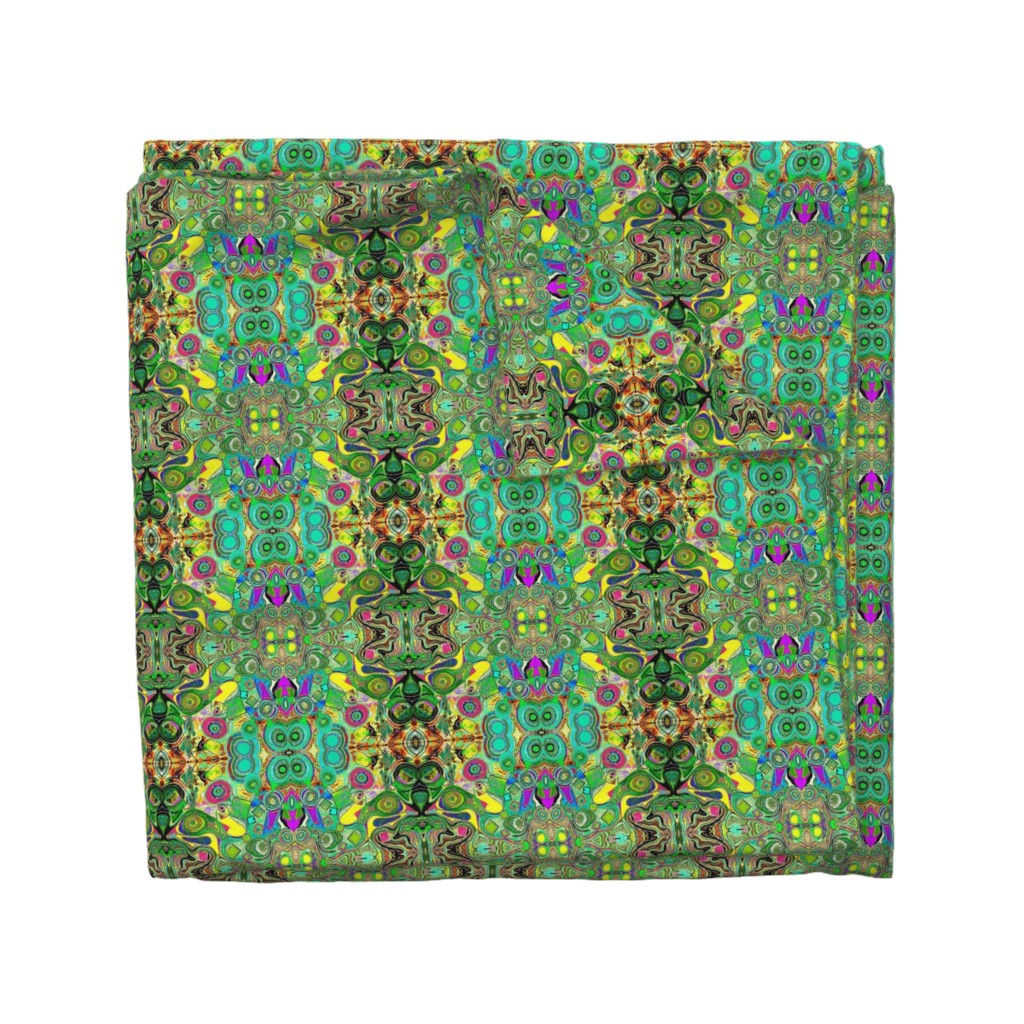 Wyandotte Duvet Cover featuring Peacocks14c by colortherapeutics