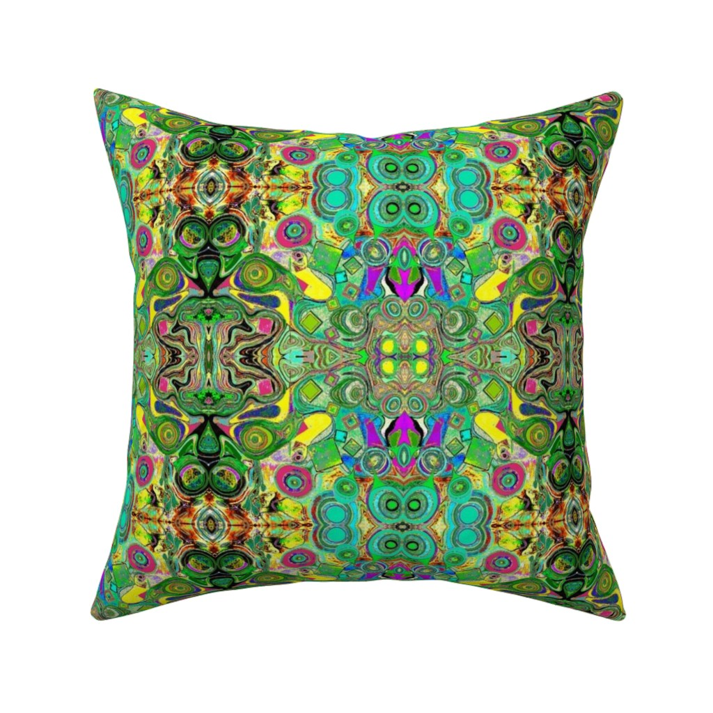 Catalan Throw Pillow featuring Peacocks14c by colortherapeutics