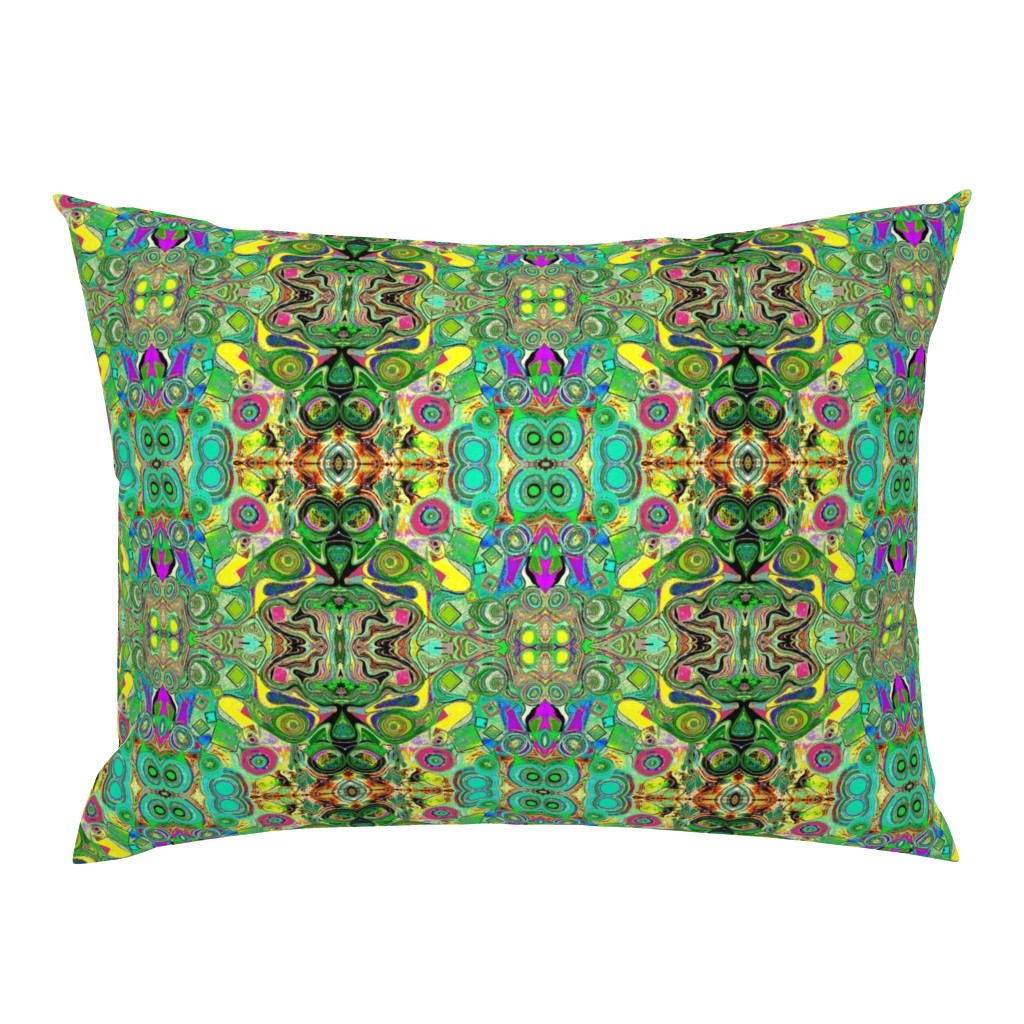 Campine Pillow Sham featuring Peacocks14c by colortherapeutics