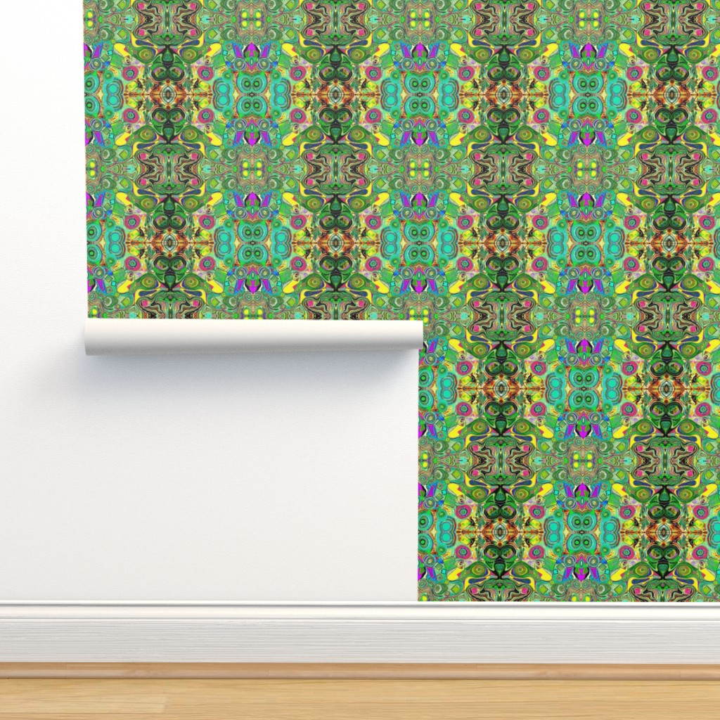 Isobar Durable Wallpaper featuring Peacocks14c by colortherapeutics