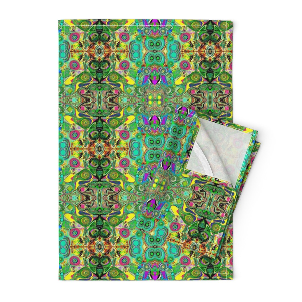 Orpington Tea Towels featuring Peacocks14c by colortherapeutics
