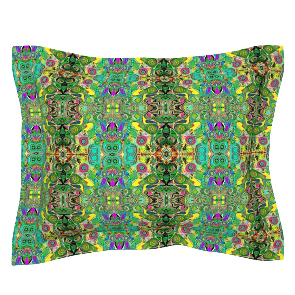 Sebright Pillow Sham featuring Peacocks14c by colortherapeutics