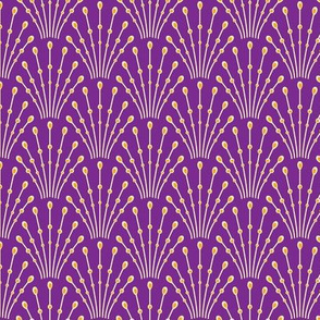 art deco beads - purple