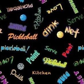 Pickleball Word Jumble - New On Black