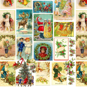 Victorian Holiday  Greeting Cards