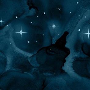 Night Sky - ocean blue
